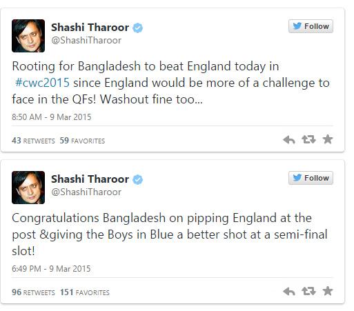Shashi Taroor Tweets